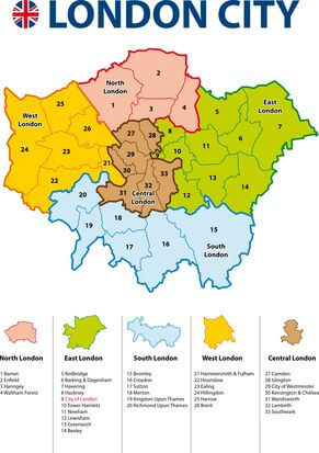 LONDON CITY MAP - Ideal Clean